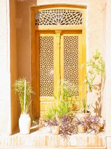 Alexander's Prison Doorway and Plants - Yazd / 18th October 2001
