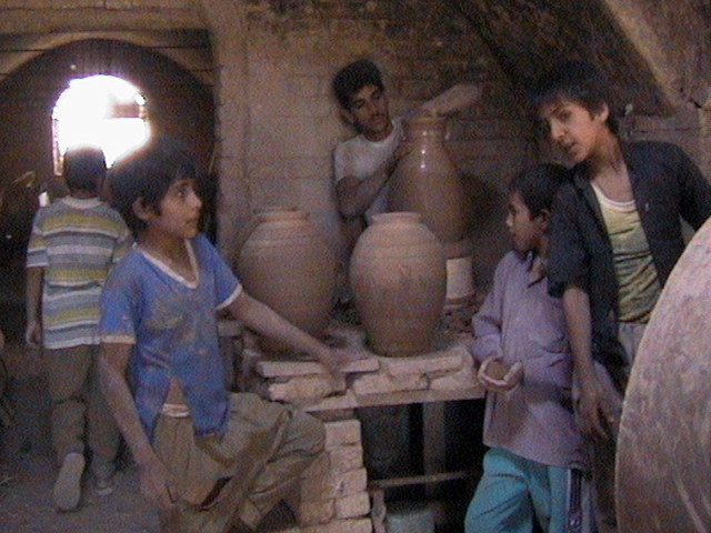 Pottery Work Shop - Maybod, Yazd 2002, by Behnaz Jalili