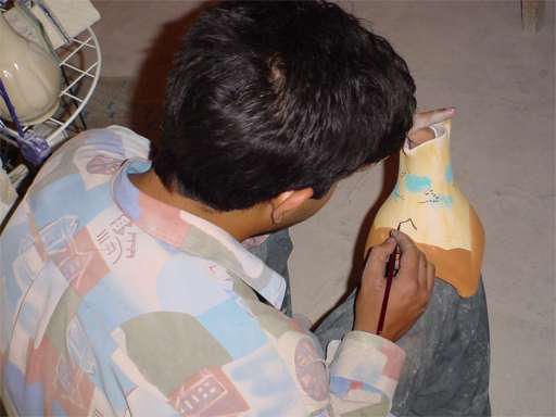 Pottery Artisan at Alexander's Prison - Yazd / 18th October 2001