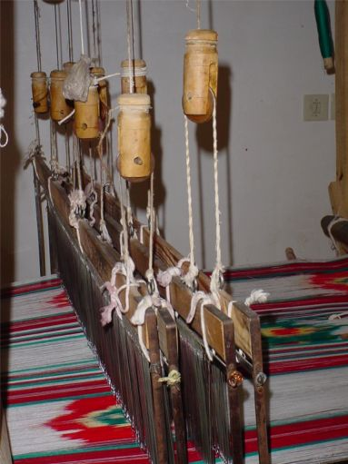 Shahrbafi (Textile Weaving) Display at Alexander's Prison - Yazd / 18th October 2001