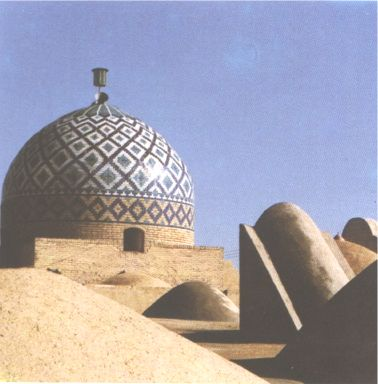 Seyyed Golsorkh Mosque dome - Yazd