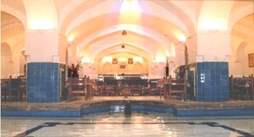 Khan's Bath pool and sitting 