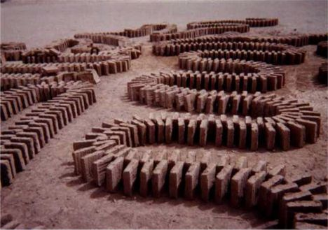 """Khesht"" (Sun Dried Bricks) at Naren Rampart's Restoration - Meybod, Yazd 2001"