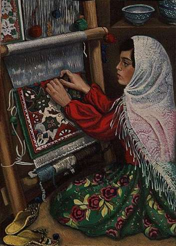 Painting by Farideh Morshed