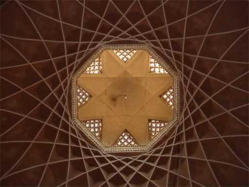 Dowlatabad Garden's Main Building Sky Light - Yazd / 19th October 2001