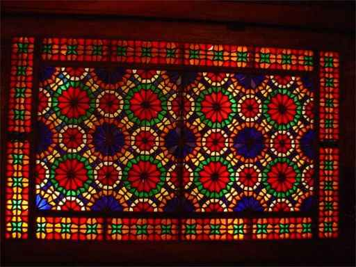 Dowlatabad Garden's Stained Glass Window Panel - 19th October 2001