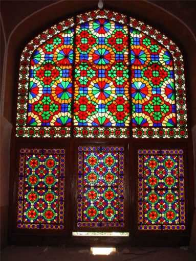 Dowlatabad Garden's Stained Glass Window - 19th October 2001
