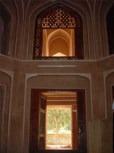 Dowlatabad Garden's Veranda Widnow and Door - Yazd / 19th October 2001