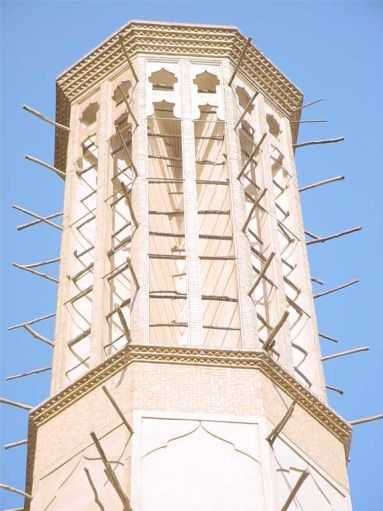 Dowlatabad Garden's Main Building Wind Tower - Yazd / 19th October 2001