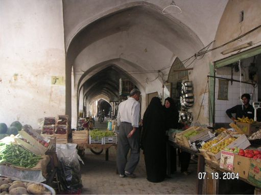 Yazd Bazaar - Yazd, by Mike Hemmati July 19th 2004